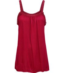 top in jersey con pizzo (rosso) - rainbow