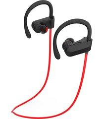 audífonos bluetooth deportivos, q12 auriculares colgantes de música estéreo audifonos bluetooth manos libres  auriculares deportivos (rojo)