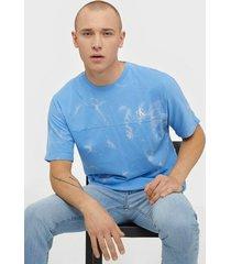 calvin klein jeans lava dye tee t-shirts & linnen blue