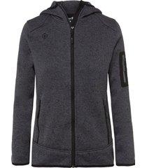 chaqueta de punto lucania gris izas outdoor
