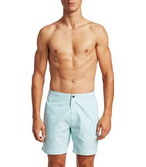 modern micro stripe swim shorts