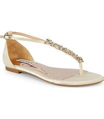 holbrookcrystal embellished thong sandals