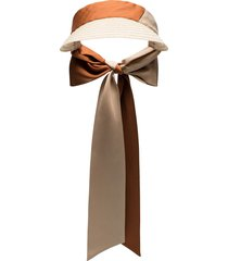 d'estrëe visière straw visor - brown