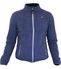 jaquetas de fleece azteq flock masculino azul