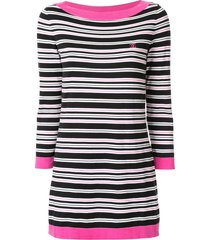 chanel pre-owned long sleeve one piece dress - black