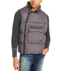 american stitch men's side zip puffer vest