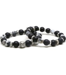 mr ettika beaded elastic bracelet, pack of 2
