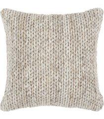 "rizzy home braid polyester filled decorative pillow, 20"" x 20"""