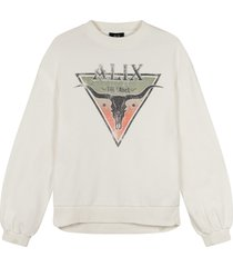 alix the label triangle sweater ecru