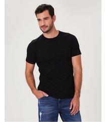 camiseta preta tradicional malwee preto - pp