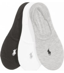 polo ralph lauren women's 3 pack flat knit sneaker liner socks