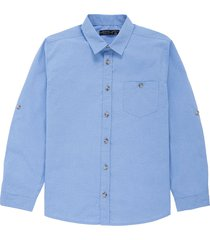 camisa manga larga azul  offcorss