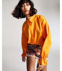 guess graffiti-print denim shorts