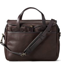 men's filson weatherproof leather briefcase - brown