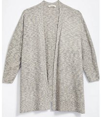 loft loft plus shimmer open poncho sweater