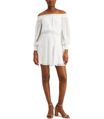 leyden off-the-shoulder mini dress