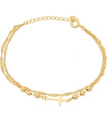 pulsera cross oro laminado dorado vanité