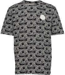 ton aop t-shirts short-sleeved zwart tiger of sweden jeans