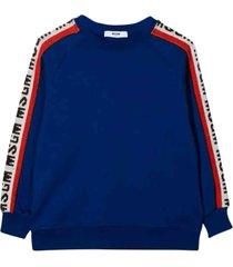 msgm royal blue sweatshirt