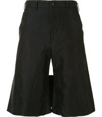 comme des garçons homme plus thigh-panel bermuda shorts - black