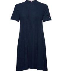 tjw rib tee dress kort klänning blå tommy jeans