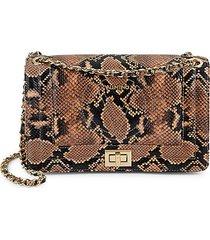 alice snakeskin-embossed leather shoulder bag