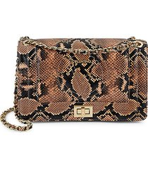 alice snakeskin-embossed leather shoulder bag