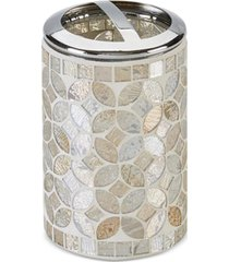 closeout! jla home cape mosaic toothbrush holder, created for macy's bedding