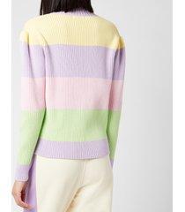 olivia rubin women's dee cardigan - stripe - l