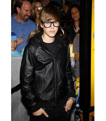 handmade custom justin bieber hooded leather jacket,justin bieber leather hoodie