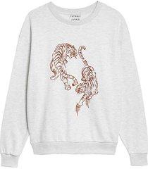 sweater tigre grijs