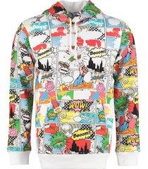 comme des garçons shirt printed cotton sweatshirt