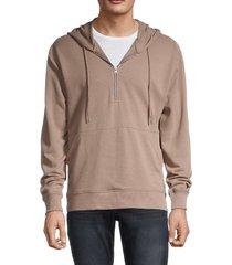 alternative men's modern quarter-zip hoodie - stone - size xxl