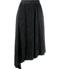 isabel marant freja flowing velvet skirt - black