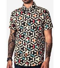 camisa hermoso compadre geometric color masculina