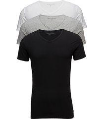 stretch vn tee ss 3pack t-shirts short-sleeved svart tommy hilfiger