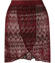 missoni mare layered sheer beach skirt