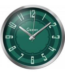 zegar ścienny zielony designerski cichy metalowy