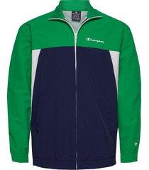 full zip sweatshirt tunn jacka grön champion