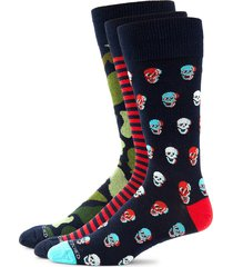 unsimply stitched men's 3-pack camo-print crew socks