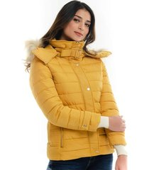 chaqueta tipo abrigo con capucha ajustable para mujer fdspv20j0209