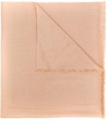 n.peal pashmina cashmere shawl scarf - brown