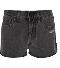 off-white 5 pockets denim shorts