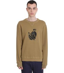 sweatshirt in taupe cotton