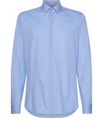 calvin klein knitted solid slim shirt licht blauw