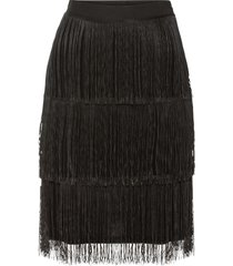 kjol med fransar