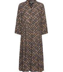 frmaori 3 dress knälång klänning brun fransa
