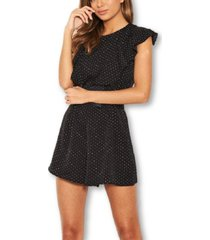 ax paris polka dot frill panel romper