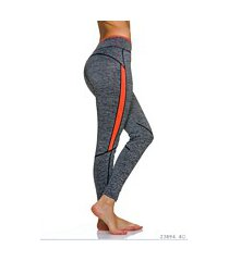 leggings grijs / oranje