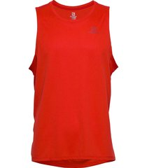 agile tank m t-shirts sleeveless röd salomon